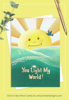 Envelope Included Ready to Ship Just Because Card Friendship Brite Designs Studio Picked With Love Greeting Card For You