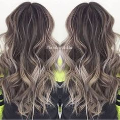 ash brown hair with highlight - Google Search