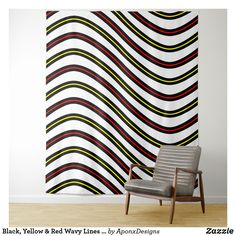 Black Yellow & Red Wavy Lines Pattern Tapestry Your new room redo is only a click away. Tapestry Bedroom, Wall Tapestry, Red Gifts, Line Patterns, New Room, Cool Diy, Black N Yellow, Home Gifts, Tapestries