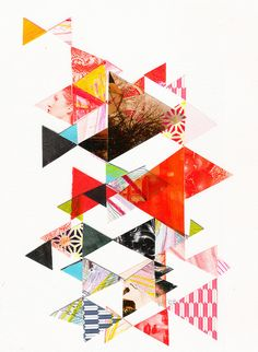 So could see a huge triangle collage on a wall in a Geometry classroom at school.