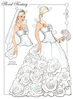 Welcome to Dover Publications. Dream Wedding Paper Dolls with Glitter! By: Eileen Rudisill Miller