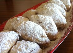 Christmas special! Soft and crunchy crescents (skaltsounia) with a delicious, flavorful walnut, jam and apple filling.