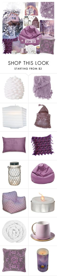 """""""Snow Day at the Tree House"""" by theseapearl ❤ liked on Polyvore featuring interior, interiors, interior design, home, home decor, interior decorating, Rice, Woven Workz, Cultural Intrigue and Madura"""