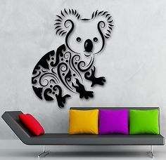 Wall Sticker Vinyl Decal Koala Animal Children's Room Decor (ig1920)
