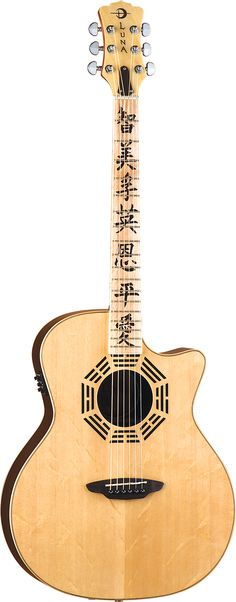 Luna Guitars - Oracle Zen - I really like the I Ching aspect of this, with the trigrams around the sound hole.