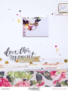 """This Moment"" Layout by ScatteredConfetti with Crate Paper ""Open Book"" collection"