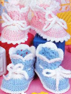 Scaps and Heirlooms: Baby Booties - Free Crochet Pattern