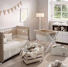 habitación infantil color beige, lo natural es ser natural y volver a los orígenes Baby Decor, Nursery Decor, Room Decor, Home Interior, Interior Decorating, Deco Kids, Deco Design, My Dream Home, Room Inspiration