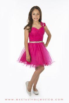 Jessica Vestidos #fiesta #gala #moda #drees #vestidos #juniors #graduación #graduaciones #mexico #DF #15Años #fifteen #graduation #ropa #cool #vestido #corto #color #rosa #Fucsia #Fuxia