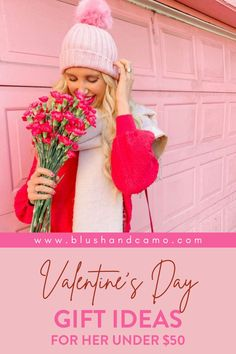 Ah, Valentine's Day! That time of the year when love is in the air! I know you want to find her the PERFECT Valentine's Day gift, but I also know that that can be hard! Don't worry! Here is my gift guide for Valentine's Day! Every suggestion is under $50 so they're affordable too! I'm sure you'll find the perfect gift for the one you love! #valentinesdayforher #giftguide #valentinedaygiftforgirlfriend #valentinedaygiftsimple