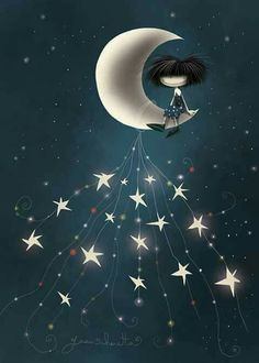 Excellent Advice To Help You Beat Insomnia Sun Moon Stars, Sun And Stars, Beautiful Moon, Beautiful Fairies, Moon Pictures, Art Pictures, Night Pictures, Sweet Moon, Vintage Moon