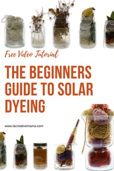 The Beginners Guide to Solar Dyeing. A step by step tutorial that will teach you how to dye your fabric scraps naturally using solar power. Easy Yarn Crafts, Sand Crafts, Wholesale Fabric Suppliers, Natural Dye Fabric, Natural Dyeing, Discount Fabric Online, How To Dye Fabric, Dyeing Fabric, Fabric Decor