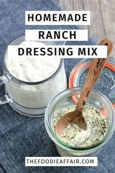 Homemade Ranch Dressing Mix for dip and a flavorful addition to chicken and casserole recipes.  Make your own and save money as well as keeping preservatives out of your diet #diy #ranch #seasoning #spices