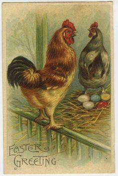 .1910 vintage paaskaart,...................lb