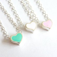 QUICK SHIP, SAME DAY!  Mini Heart Necklace!