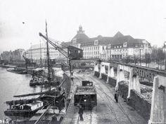Düsseldorfer Rheinfront Höhe Horionvilla um 1950 - Stadtarchiv Düsseldorf