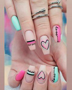 Top 100 Acrylic Nail Designs of May Web Page Long White Acrylic Nails Design. Top 100 Acrylic Nail Designs of May Web Page Long Wh Valentine's Day Nail Designs, Acrylic Nail Designs, Summer Acrylic Nails, Best Acrylic Nails, Trendy Nail Art, Stylish Nails, Latest Nail Art, Work Nails, Fun Nails