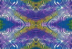 Colorful moire - watercolor