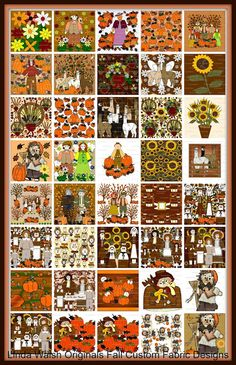 Linda Walsh Originals Dolls and Crafts Blog: So Many Different Fall Custom Fabrics To Choose From In So Many Collections
