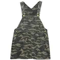 Chicnova Fashion Camouflage Overall Dress ($21) ❤ liked on Polyvore featuring dresses, camouflage dresses, camoflauge dress, camo print dress, camo dresses and pocket dress
