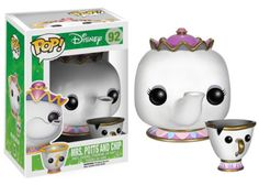 AmazonSmile: Funko POP Disney: Mrs. Potts and Chip Action Figure: Toys & Games