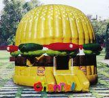 inflatable hamburger castle