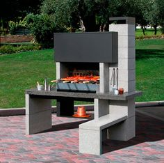 Having a barbecue at home can be wonderful. If you are thinking of building a grill area we give you some ideas Barbecue Design, Barbecue Area, Grill Design, Outdoor Oven, Outdoor Cooking, Parrilla Exterior, Grill Area, Outdoor Kitchen Design, Outdoor Living
