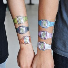 """You're Very, Very Late"" Set of Watch Temporary Tattoos"