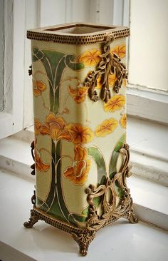 Art Nouveau vase in the window  JV