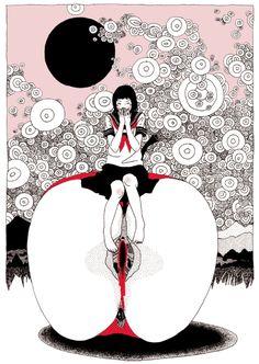 中村佑介 (なかむら ゆうすけ) 日本の新鋭イラストレーター アジカンCDジャケットからアニメ四畳半神話大系まで | デザインブログ バードヤード