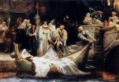The Lady of Shalott, a poem by Alfred, Lord Tennyson   Wonderful ...
