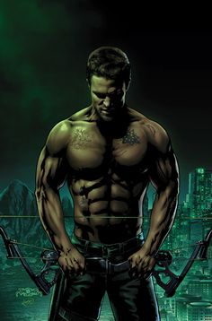 Oliver Queen and Caleb Green go toe-to-toe in the streets of Starling City! Can Oliver withstand Caleb's assault without his Arrow gear? The Arrow, Arrow Tv, Arrow Comic, Stephen Amell Arrow, Arrow Oliver, Wally West, Hanna Barbera, Damian Wayne, Green Arrow