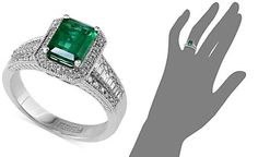 Brasilica by EFFY Emerald (1-3/8 ct. t.w.) and Diamond (3/8 ct. t.w.) Emerald-Cut Ring in 14k White Gold