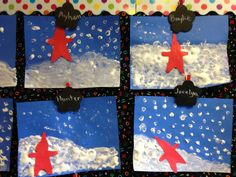 The Snowy Day: painted with homemade puffy paint