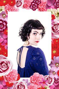 "Dress Claudia Navy - Earrings Pamela - Pepaloves - Cat ""From someone in love"""