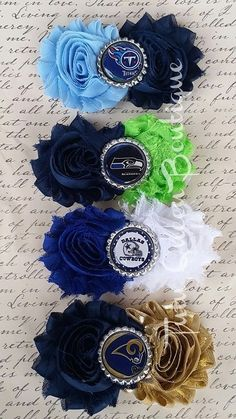 Cowboys Seahawks Titans Rams Headband Shabby Hair Clips Baby Adult