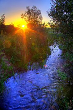 Sunrise at South Boulder Creek #Colorado