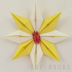 Origami star, 8-pointed Star Pattern - Modular Origami #instructionsmodularorigami #origamistar Picture instructions #origamipaperstar