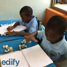 Who needs fancy tools when you can be resourceful? These students in Ghana are hard at work practicing their math skills with rocks. :)