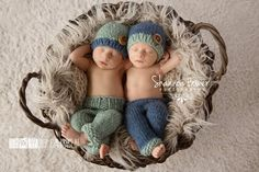 Sage and Denim Newborn Pants Photography Prop by CustomPhotoProps, $52.00