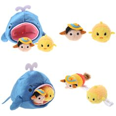 D23 Expo mame tsum tsum Pinocchio set 2015 from Japan!!! Can't wait to get mine!!! Comes with detachable mini Pinocchio and Cleo.