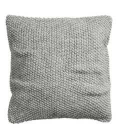 Moss-knit Cushion Cover   Light gray   Home   H&M US