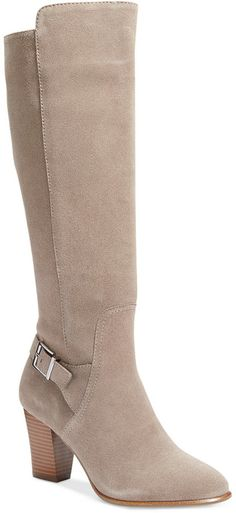 Alfani Careeni Wide Calf Dress Boots, Only at Macy's shoes tan nude style
