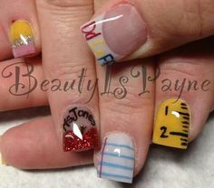 Cute school days nails. CREDIT: Beauty Is Payne on Facebook