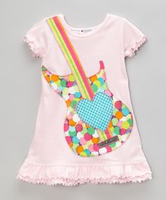 Look what I found on #zulily! mini scraps Light Pink Guitar A-Line Dress - Infant, Toddler & Girls by mini scraps #zulilyfinds