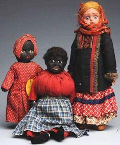 263: Lot of 3: Antique Ethnic Dolls.