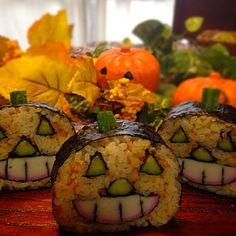 #料理#寿司#和食#巻き寿司#food#Japan#Japanease#dish#sushi#cooking class#kumamoto#熊本#料理教室#ハロウィン#パーティー#pa#halloween #ジャック・オ・ランタン