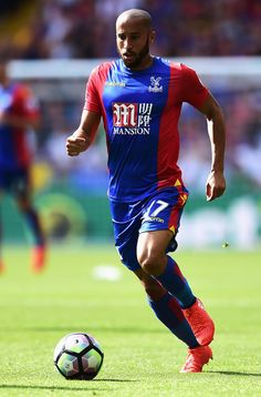 Andros Townsend of Crystal Palace in action during the Premier League match…