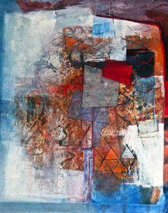 Sharon Blair Art and Design: Cross Roads   www.sharonblair.com.au     - Art For Inspired Interiors           -  Mixed Media Artwork: Abstract