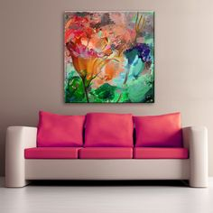 'Painted Petals LXI' Gallery-wrapped Canvas Wall Art, 30x30, $60.00